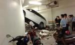 Thiếu nữ 20 tuổi lái ô tô đâm thủng tường trong hầm để xe