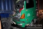 Xe tải tông trực diện đuôi container, tài xế tử vong