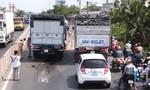 Xe tải tông đuôi xe khách, nhiều người may mắn thoát chết