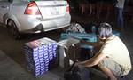 CSGT đuổi 2km bắt xe ô tô chở thuốc lá ngoại nhập lậu