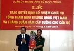 Trung tướng Phan Văn Giang làm Tổng tham mưu trưởng quân đội