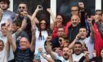 Vợ tiền đạo Jamie Vardy vui mừng sau chiến thắng ngoạn mục của đội tuyển Anh