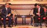 Chủ tịch UBND TP Nguyễn Thành Phong tiếp đón Thống đốc Bang Nam Úc