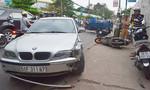 Ô tô lấn đường gây tai nạn liên hoàn, 3 người bị thương