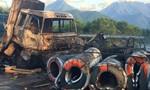 Tai nạn liên hoàn, hai xe bốc cháy nghi ngút