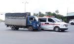 Xe tải tông xe cứu thương đang chở bệnh nhân đi cấp cứu