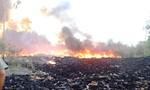 Cháy lớn tại bãi phế liệu công nghiệp