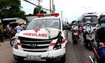 Xe cứu thương chở người chết bị tông liên hoàn trên quốc lộ 13