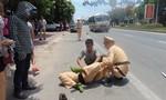Tông CSGT ngã giữa đường, một thanh niên tăng ga bỏ trốn