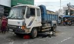 Trở lại Sài Gòn làm việc, người phụ nữ bị xe ben tông chết