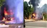 Gặp hỏa hoạn, xe tải bốc cháy ngùn ngụt