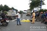 Nam công nhân bị xe bồn cán tử vong trên đường về nhà