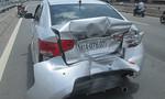 Xe khách tông ô tô văng 5 mét, 4 người suýt chết