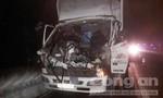 Hai xe tải va chạm trên đường cao tốc, tài xế gãy chân