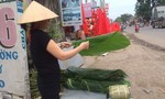 Đào, lá dong bày bán trên đường phố Đồng Nai