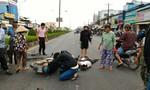 Đi ngược chiều trên QL 1, một người đàn ông bị xe mô tô tông nguy kịch
