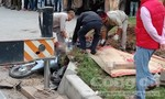 Xe tải kéo lê người đàn ông khiến thi thể không còn nguyên vẹn