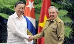 Chủ tịch Cuba Raúl Castro tiếp Bộ trưởng Tô Lâm
