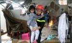 Khánh Hoà: Cảnh sát PCCC cứu hàng chục người dân mắc kẹt trong bão