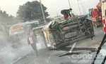 Hai ô tô va chạm, khiến một người nhập viện