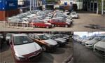 Hàng trăm xe BMW phơi nắng, mưa tại cảng VICT