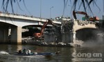 Sắp hoàn thành tháo dỡ cầu Nhị Thiên Đường 1