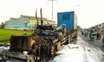 Xe đầu kéo cháy trơ khung trên QL1A