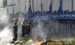 Cháy lớn tại kho chứa hàng, thiệt hại hàng trăm triệu đồng