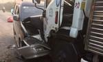 Ôtô đâm nhau, tài xế kẹt cứng trong cabin