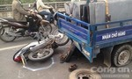 Xe máy đâm vào xe ba gác, 3 người thương vong