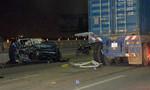 Ô tô tông đuôi container trên cầu Sài Gòn, 2 người thương vong