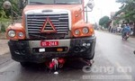 Xe container va chạm xe máy, 1 người tử vong