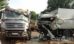 Xe tải đấu đầu xe ben, 3 người bị thương