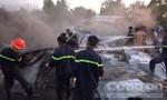 Cháy bãi tập kết vật tư thiệt hại trên 1 tỷ đồng