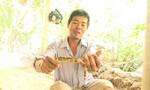 Người dân cù lao bắt được lươn rằn ri kỳ lạ