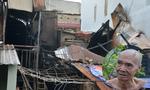 Cháy nhà cấp 4, cụ ông 69 tuổi dùng mền dập lửa