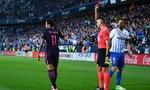 Neymar lãnh thẻ đỏ, Barca thua thảm hại Malaga