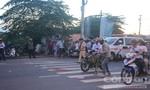 Xe container va chạm với xe máy, một thanh niên tử vong