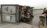 Xe tải mất lái tông dải phân cách, lái xe thoát chết