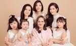 Gia đình ba thế hệ của Lý Nhã Kỳ lần đầu chụp bộ ảnh gia đình