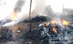 Quảng Ngãi: Cháy lớn ở hai cơ sở tái chế lốp ô tô