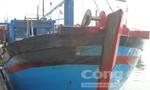 Nhiều tàu cá bị cháy, chìm sâu dưới cảng Tiên Châu
