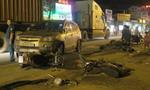 Ô tô tông hàng loạt xe máy trong đêm ở ven Sài Gòn
