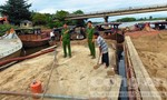 Phát hiện 5 ghe máy hút cát trái phép trên sông Thu Bồn