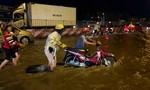 Đội CSGT An Lạc lội nước điều hoà giao thông