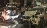 Bảo vệ lái xe của khách tông taxi lật nhiều vòng, 2 người trọng thương