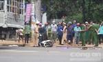 Xe tải tông xe máy, một phụ nữ mang thai chết thảm