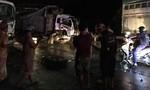 Hai xe tải đâm nhau trong đêm, tài xế kẹt trong ca bin