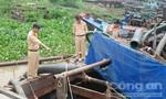 Phát hiện ghe hút cát lậu trên sông Đồng Nai