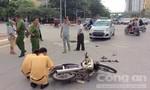 Ô tô vượt đèn đỏ tông xe máy, 2 người bị thương nặng